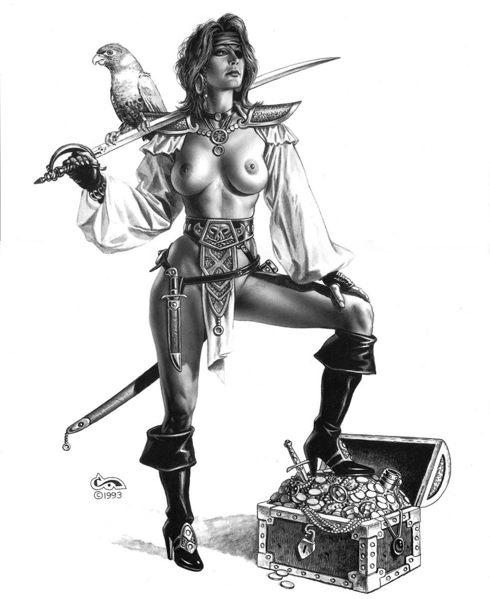 Pirate woman naked exploited scene